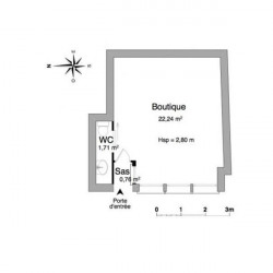 Location Local commercial Rochefort 24,71 m²