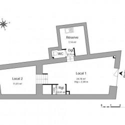 Location Local commercial Neuville-sur-Saône 44,05 m²