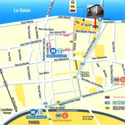 Location Bureau Clichy 1350 m²