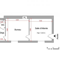 Location Local commercial Rennes 35,17 m²