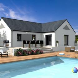 Maison  6 pièces + Terrain  667 m² Saint-Martin-d'Abbat