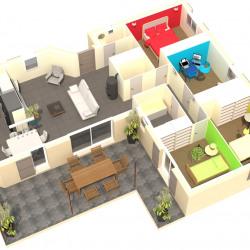 Maison  4 pièces + Terrain  550 m² Connaux