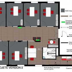 Location Bureau Versailles 69 m²