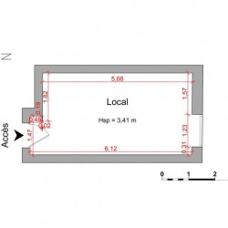 Location Local commercial Nice 18,29 m²