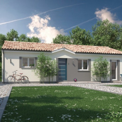 Maison  3 pièces + Terrain  1000 m² Abzac