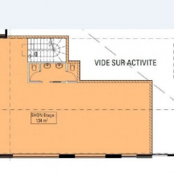 Location Bureau Vaulx-en-Velin 150 m²
