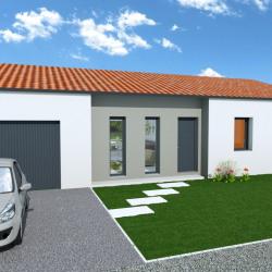 Maison  4 pièces + Terrain  700 m² Mesnard-la-Barotière