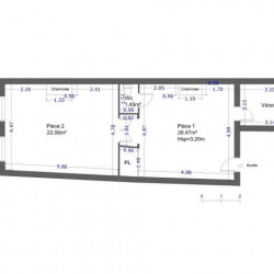 Location Local commercial Nancy 49,98 m²