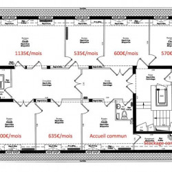 Location Bureau Versailles 55 m²