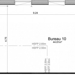Vente Bureau Ifs 45 m²