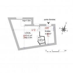 Location Local commercial Castries 18,21 m²