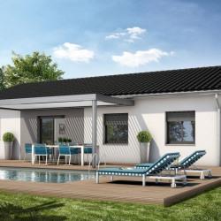 Maison  3 pièces + Terrain  300 m² Roujan