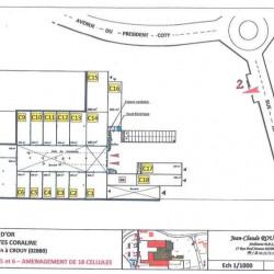 Location Local d'activités Crouy 5150 m²
