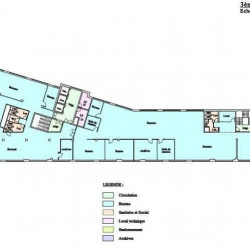 Location Bureau Saint-Denis 3697,48 m²