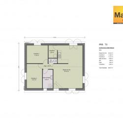 Maison  3 pièces + Terrain  281 m² Gabian