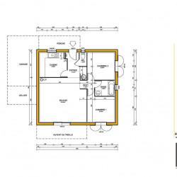 Maison  3 pièces + Terrain  1000 m² Tourrette-Levens