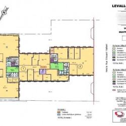 Location Bureau Levallois-Perret 1389 m²
