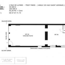 Cession de bail Local commercial Paris 7ème 76 m²