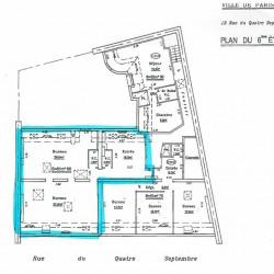 Location Bureau Paris 2ème 81 m²