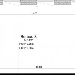 Vente Bureau Ifs 47 m²