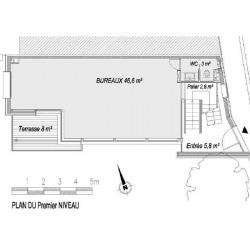 Location Bureau Montreuil 52 m²