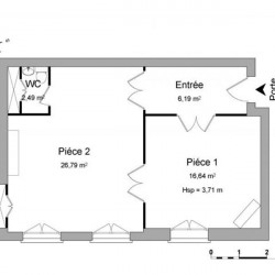 Location Local commercial Poitiers 52,11 m²