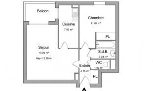 location Appartement 2 pièces Vesoul