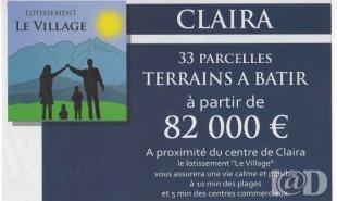 vente Terrain Claira