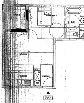 Location - Appartement 2 pièces - 42,03 m2 - Nanterre - Photo