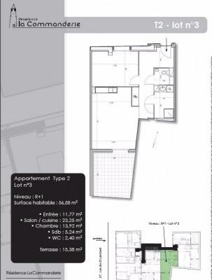 Produit d'investissement - Appartement 2 pièces - 56,85 m2 - Nancy - Photo