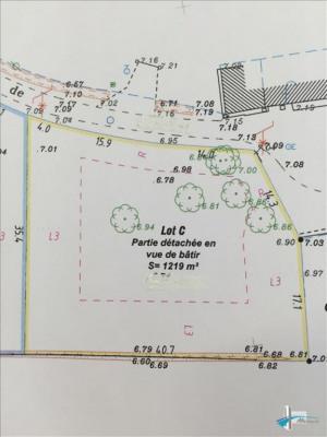 Terrain à bâtir ambares et lagrave - 1219 m²