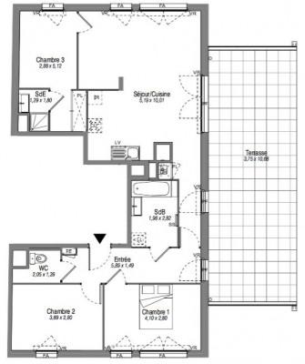 Investeringsproduct  - Appartement 4 Vertrekken - 86 m2 - Villeurbanne - Photo