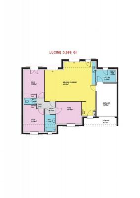 Sale - Construction project 5 rooms - 98 m2 - Saint Denis de l'Hôtel - Photo
