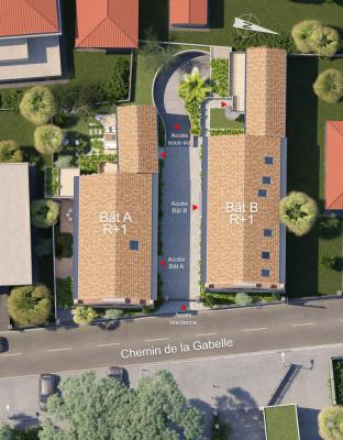 Вложения денег в недвижимости - квартирa 3 комнаты - 58,9 m2 - Vallauris - Photo