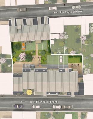 新房出售 - Programme - Tours - 2 bâtiments répartis autour d'un espace paysager - Photo
