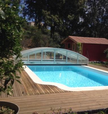 Villa avec piscine chauffée et chalet Afa-Piscia Rossa