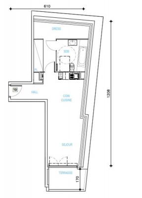 Vente - Studio - 44 m2 - Châteauneuf Grasse - Photo