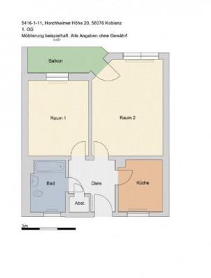 Location - Appartement 2 pièces - Koblenz - Photo