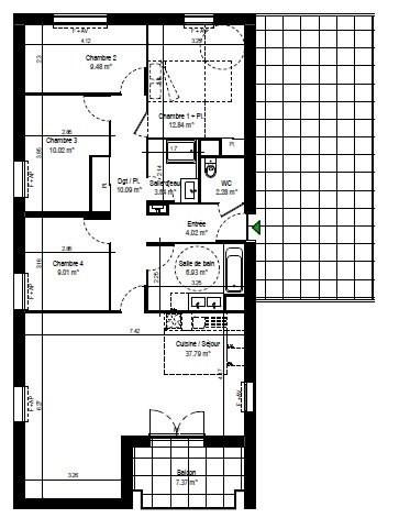 Sale apartment Rillieux la pape 272000€ - Picture 2