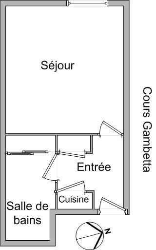 Location appartement Lyon 7ème 384€ CC - Photo 1