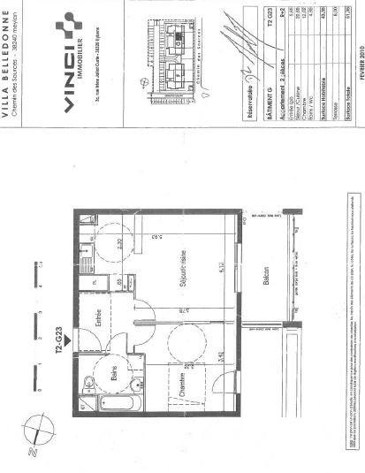 Location appartement Meylan 560€ CC - Photo 2