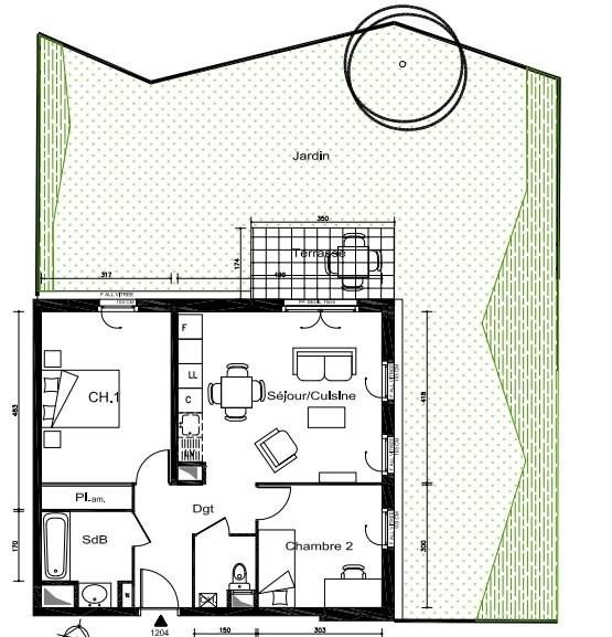 Sale apartment Lyon 8ème 175500€ - Picture 2