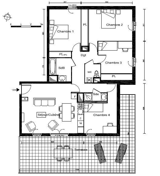 Sale apartment Lyon 8ème 311000€ - Picture 3