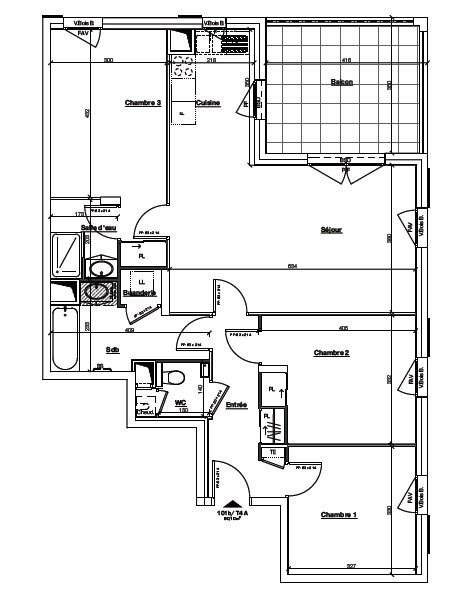 Sale apartment Ste foy les lyon 410000€ - Picture 3