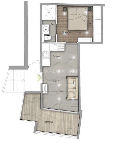 Vendita appartamento Beausoleil 234000€ - Fotografia 2