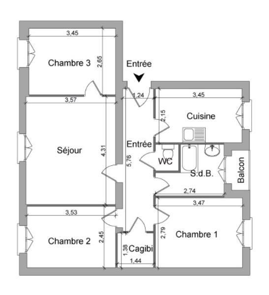 Location appartement Villefranche sur saone 545,58€ CC - Photo 7