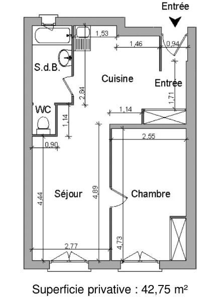 Location appartement Villefranche sur saone 408,50€ CC - Photo 5