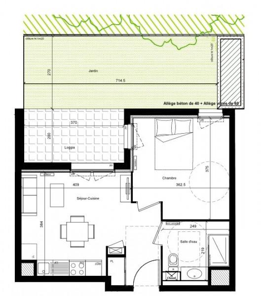 Achat - Vente - T2 terrasse rez-de-jardin