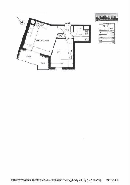Location appartement Perrigny les dijon 534€ CC - Photo 2