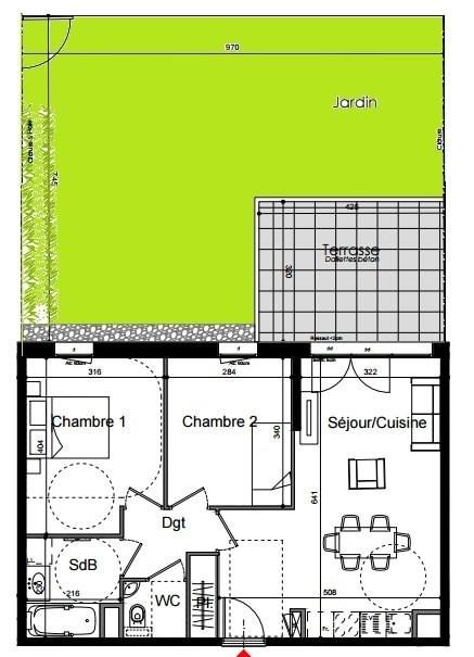 Sale apartment Lyon 4ème 330300€ - Picture 2